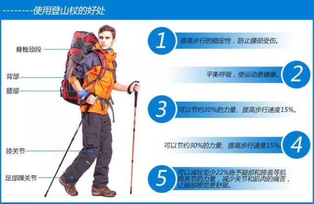 登山后腰酸腿疼?因为你不会用登山杖!腕带才是重点