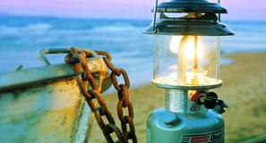 自驾露营移动电灯泡,coleman 北极星油灯