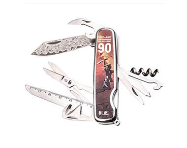 汉道建军大业纪念版大马士革军刀多功能折叠刀野外求生户外刀具