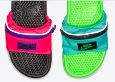 耐克出了个新品——创意腰包拖鞋